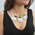 Demi Sphere Flowerpot Necklace by leFabShop