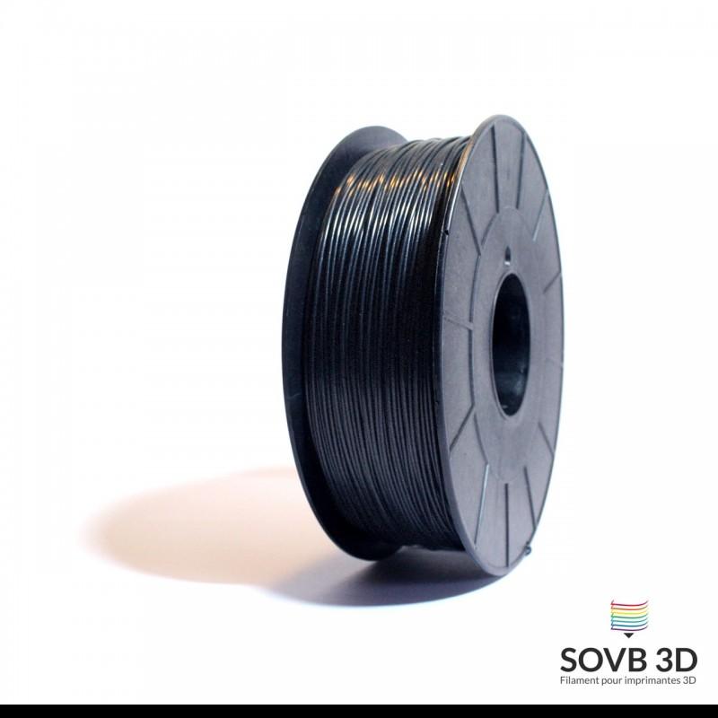SOVB 3D : filament ABS Noir Alumine 1kg Made in France